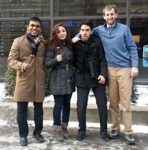 Award Winners at the McGill Model UN Conference January 2014 from Left to Right (Dulwara de Alwis, Dea Dodi, Doga Bilgin, and Jake Kailey)