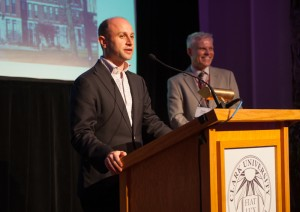 Scott Zoback '04, M.P.A. '05, receives the Young Alumni Award.