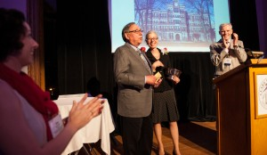 Andrea and Peter Klein '64 receive the Distinguished Service Award at the 2014 Reunion Dinner.