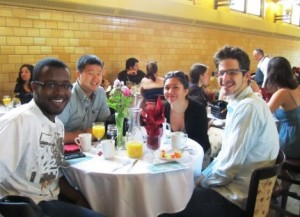Clarkies enjoy the annual Senior Brunch in the Dining Hall.