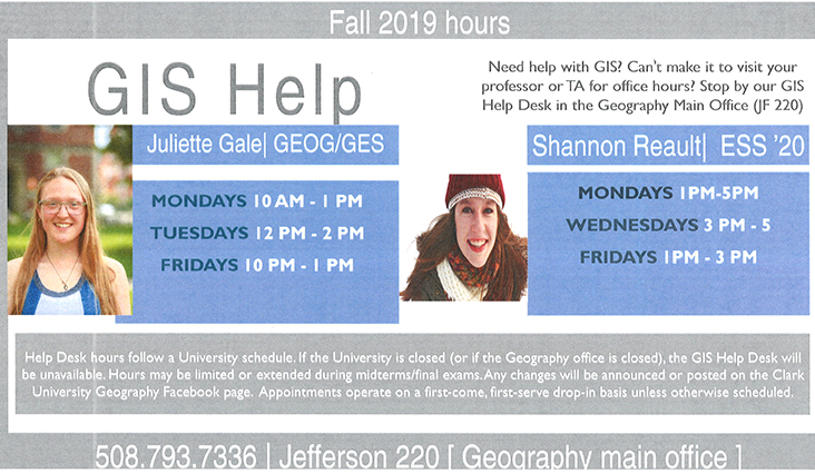 GIS Help Desk flyer