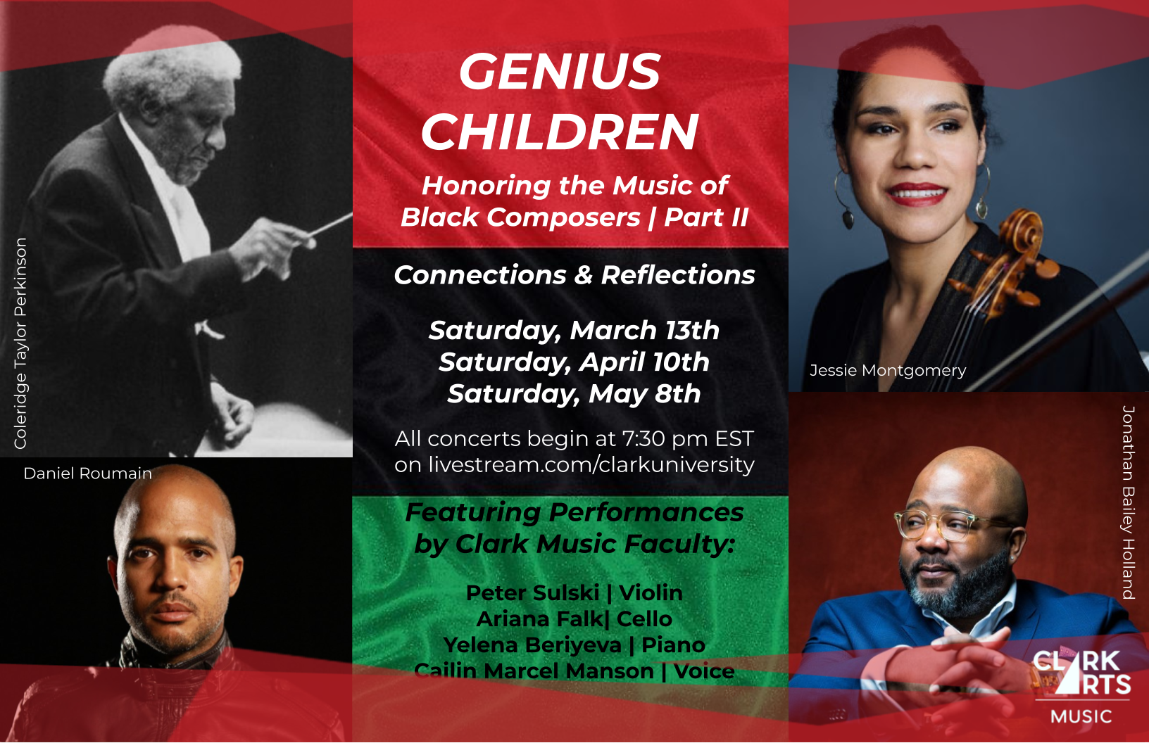 March 13 Clark Music Faculty Present Genius Children Honoring The Music Of Black Composers Part 2 Campus Digest