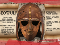 Event poster with ancient battle helmet