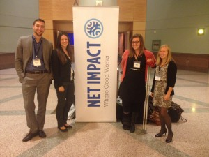 Net Impact group at conference