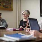 Anita Fabos teaches class.